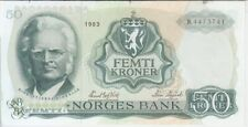 Norway banknote P37d 50 Kroner 1983, EF We Combine,