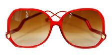 Vintage Red Oversized Gold Detail Sunglasses