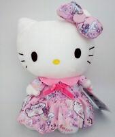 "Sanrio Hello Kitty in pink skirt 9"" Plush Toy Christmas gift Stuffed Animal Doll"