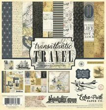 TRAVEL Vacation World Adventure Trip Journey Vintage Echo Park Page Kit 12 x 12