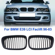 Fit BMW E39 1997-2003 518i 520i 528i Sedan LCI Front Matte Black Grill Grille