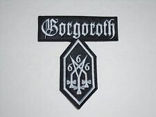 GORGOROTH BLACK METAL EMBROIDERED PATCH