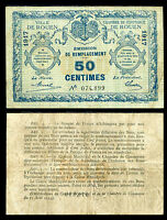 FRENCH MILITARY 50 CENTS 1917 CIRCULATED