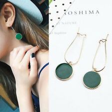 Boho Women Circle Round Drop Ear Studs Earring Minimalist Green Earrings Jewelry