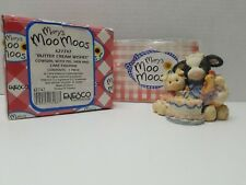 "Enesco 1993 Marys Moo Moos Figure ""Butter Cream Wishes"" 627747 Cow Birthday Cake"