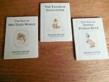 NEW!  Lot of 3 The Daily Telegraph Beatrix Potter Books:  Tiggy*Puddle*Tailor