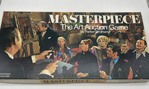 Vintage 1970 Masterpiece The Art Auction Game by Parker Brothers 100% Complete