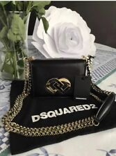 Disquared2 Gold Chain Shoulder/crossbody leather Mini Bag