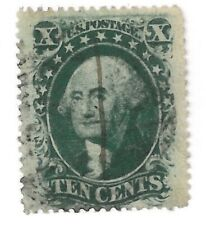 US 1859 10 Cent Washington Scott 35 F/VF Intense Green !  |