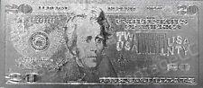 999 SILVER *$20* Dollar Bank Note Banknote Bill Twenty Dollars