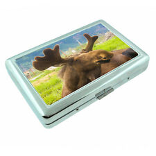 Scenic Alaska D6 Silver Metal Cigarette Case RFID Protection Wallet Moose