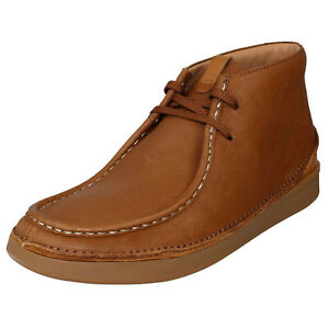 MENS CLARKS OAKLAND MID LACE UP CASUAL SMART CHUKKA ANKLE BOOTS LEATHER SIZE