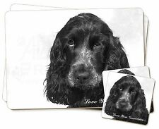 Blue Roan Cockers 'Love You Grandma' Twin 2x Placemats+2x Coasters, AD-SC25lygPC