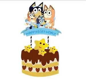 BLUEY DOG HEELER LARGE CAKE TOPPER DECORATION HAPPY BIRTHDAY