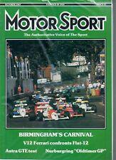 Motor Sport Magazine - October 1987