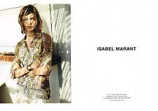 PUBLICITE ADVERTISING  2013   ISABEL MARANT haute couture (2 pages) 2