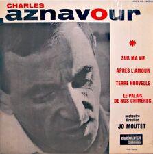 ++CHARLES AZNAVOUR sur ma vie/après l'amour/terre nouvelle EP DUCRETET VG++