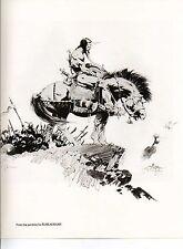 """1978 Full Color Plate """"Kublai Khan"""" by Frank Frazetta Fantastic GGA"""
