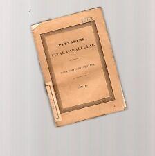 plutarchi - vite parallelae - nova editio sterepotipa tom. II° -lipsiae 1846