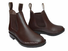 childs size 2  horse riding leather jodhpur/jodphur boots BROWN childrens