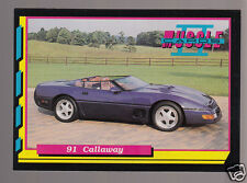 1991 CHEVROLET CORVETTE CALLAWAY SPEEDSTER Muscle Car Photo 1992 TRADING CARD