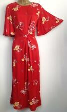 MONSOON- ADA PRINT DRESS - RED- Size 14 - (Brand New With Tag)
