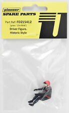 Pioneer 1/32 Slot Car Red Helmet Black Suit Driver Figure FD215412