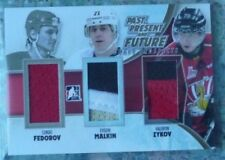 2012-13 ITG Draft Prospects Past Present Future Jersey GOLD Fedorov/Malkin/Zykov
