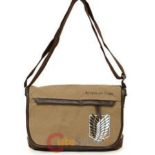 Attack on Titan Canvas Messenger Bag Small Canvas Anime Shoulder Cross Bag
