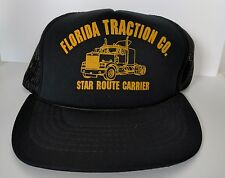 Vintage Florida Traction Co Carrier Hat Cap Snapback Braided Showcase By Yupoong