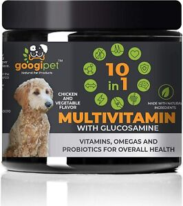 10 in 1 Dog Multivitamin Glucosamine PurforMSM Hip Joint Support Fish Oil 90