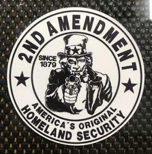 2nd Amendment / Homeland Security Vinyl Decal Sticker FREE SHIPPING