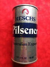 Reschs Pilsener Australian Export Beer Can Top Opened