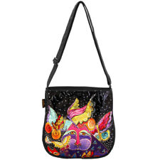 Laurel Burch Feline Flutterbyes Small Butterfly Crossbody Tote Handbag Purse
