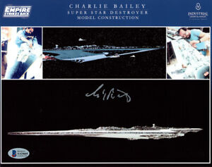 CHARLIE BAILEY SIGNED AUTOGRAPHED 8x10 PHOTO MODEL MAKER ILM STAR WARS BECKETT