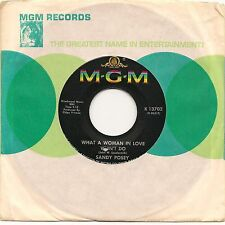 """SANDY POSEY WHAT A WOMAN IN LOVE WON'T DO + SHATTERED 7"""" IMPORT 1967 EX"""