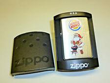 "ZIPPO LIGHTER ""BURGER KING"" ADVERTISING - STURMFEUERZEUG - NEVER STRUCK - 2005"