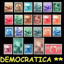 ITALIA ITALY 1945-46 Serie Democratica Valori perfetti integri MNH** Certificata