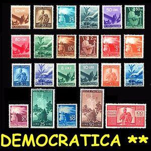 ITALIA ITALY 1945-46 Serie Democratica Valori perfetti integri MNH**