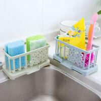 Plastic Racks Organizer Storage Kitchen Sink Utensils Sponge Clean Holders Drain