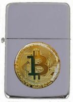 BITCOIN  PETROL FLIP METAL PETROL LIGHTER