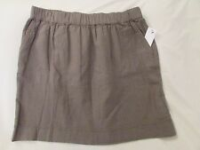 "Ladies ""Sonoma"" Size 12, Moss Stone Green, Pull On, Linen Blend, Casual Skirt"
