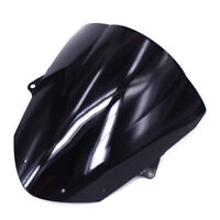 Black Windshield Windscreen For Kawasaki ZX6R ZX636 2009-14 2010 2011 2012 2013