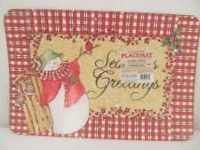 CounterArt Reversible Placemats (Set of 4) Country Christmas Microban