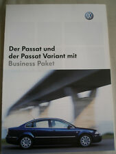 VW Passat & Passat Variant Business brochure Oct 2002 German text
