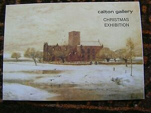 private view card, Christmas exhibition, Carlton Gallery, Edinburgh, 1983