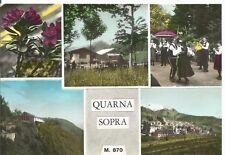190242 VERBANIA QUARNA SOPRA - VEDUTINE - COSTUME - FOLKLORE Cartolina FOTOGRAF.