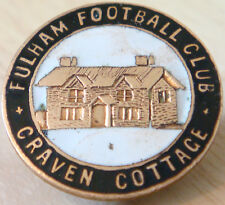 FULHAM FC Very rare vintage CRAVEN COTTAGE Badge button hole fitting 24mm Dia