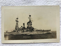 US Navy Battleship c1918 USS Idaho BB-42 DB Unposted RPPC Waterman Real Photo