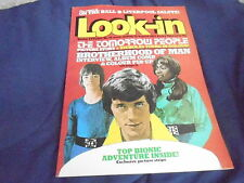 #34 AUG 20 1977 LOOK IN tv movie magazine TOMORROW PEOPLE - BIONIC WOMAN